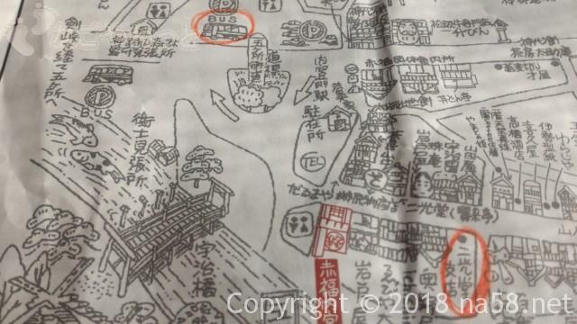 二光堂支店、伊勢神宮おはらい町、地図