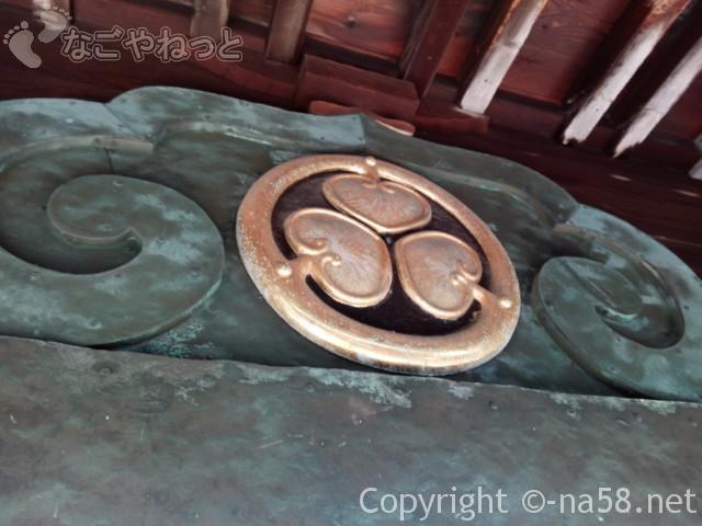 源敬公廟(定光寺)の前の門の装飾