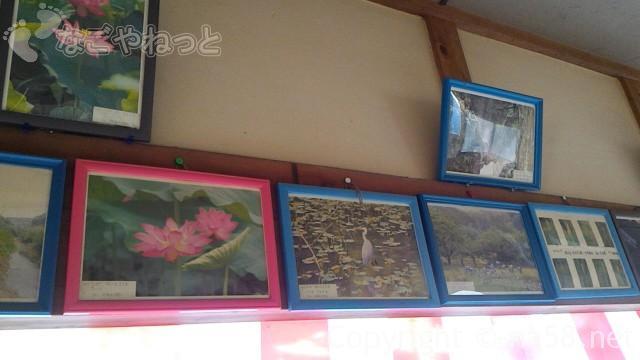 定光寺の休憩室に飾られていた風景写真