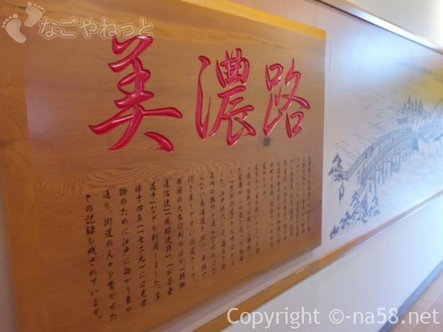 稲沢ぽかぽか温泉の入浴ののれんまでの廊下の美濃路の壁画