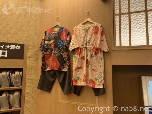 「天空スパヒルズ」竜泉寺の湯・名古屋守山本店、受付にある岩盤浴の湯あみ着