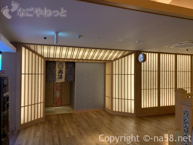 竜泉寺の湯・名古屋守山本店、男湯の入り口