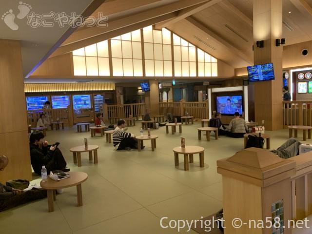 竜泉寺の湯・名古屋守山本店、畳の休憩所
