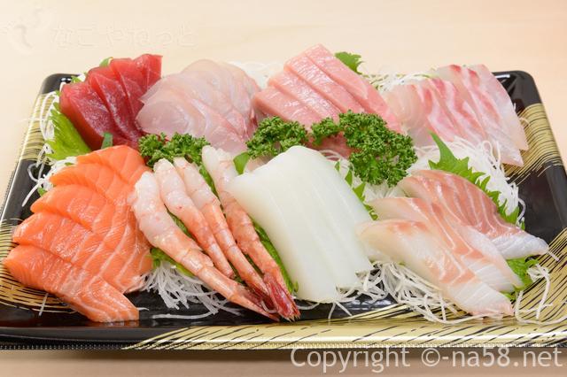 海鮮が食べ放題!名古屋港区で大盤振る舞い?飲み放題も(子供料金あり)3580園コースの内容刺身盛り合わせ