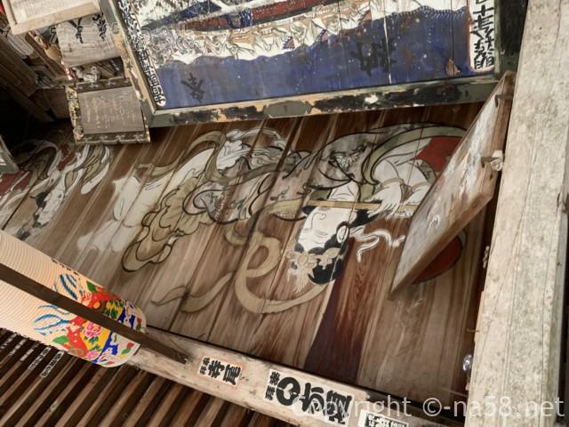 日龍峯寺(高澤観音)の本堂の天井画