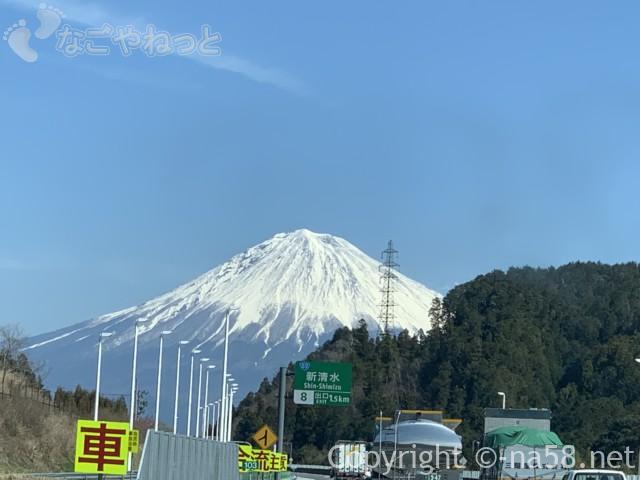 新東名のぼりからの富士山、ここ最高!2019-03-14 11.11.11