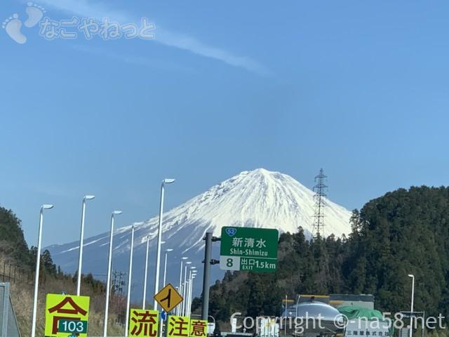 最高にかっこいい富士山、新東名のぼりの車窓から2019-03-14 11.11.13