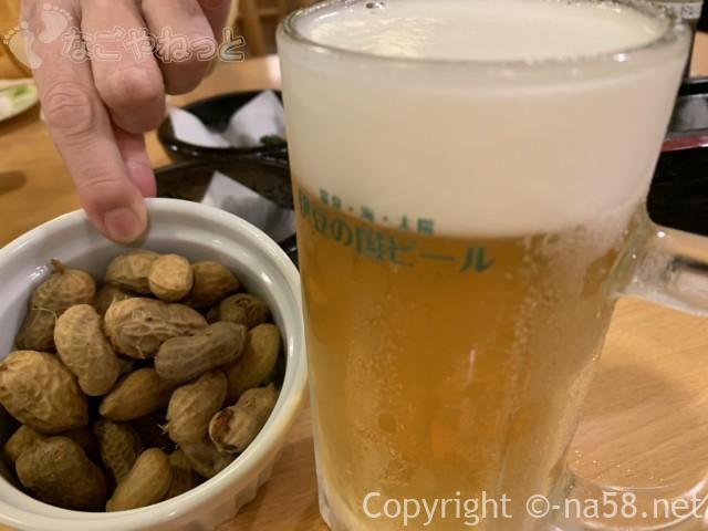百笑の湯のレストランオーダーバイキングで伊豆の国ビール飲み放題