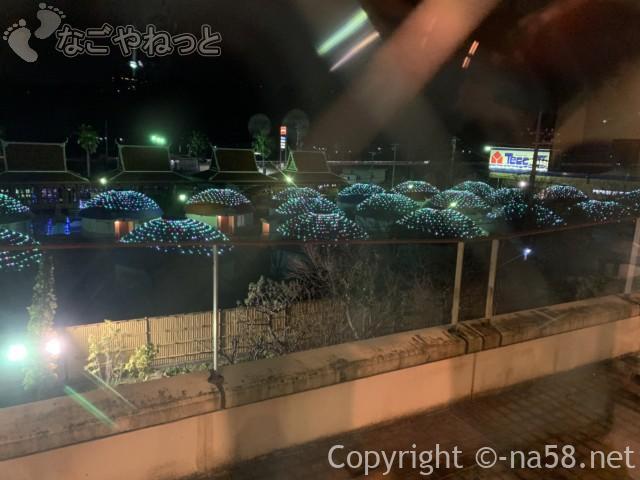 伊豆市時之栖のコテージホテル「オリーブの木」夜のイルミネーション