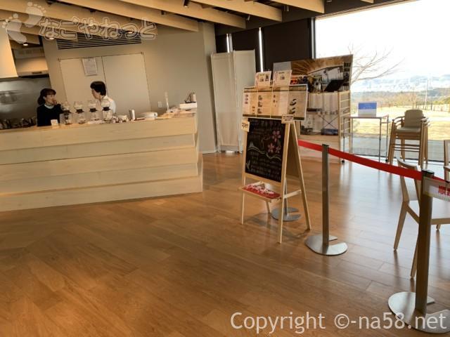 日本平夢テラスの2階のカフェ