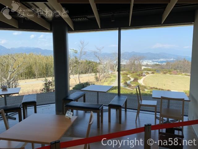 日本平夢テラスの2階のカフェからお眺望