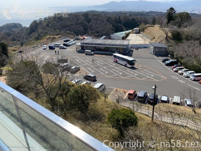 日本平夢テラスへのロープウェイの駐車場