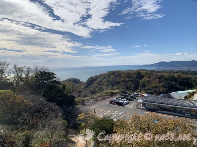 日本平夢テラス(静岡県静岡市)三階展望デッキ、テラスからの眺望