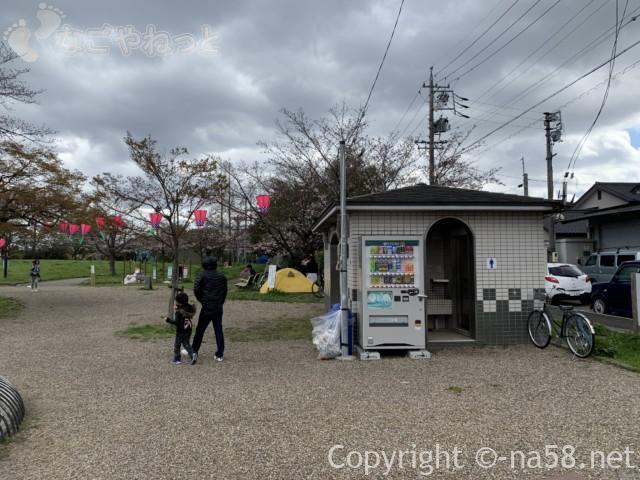 蛇池公園(名古屋市北区西区)お手洗いと自販機