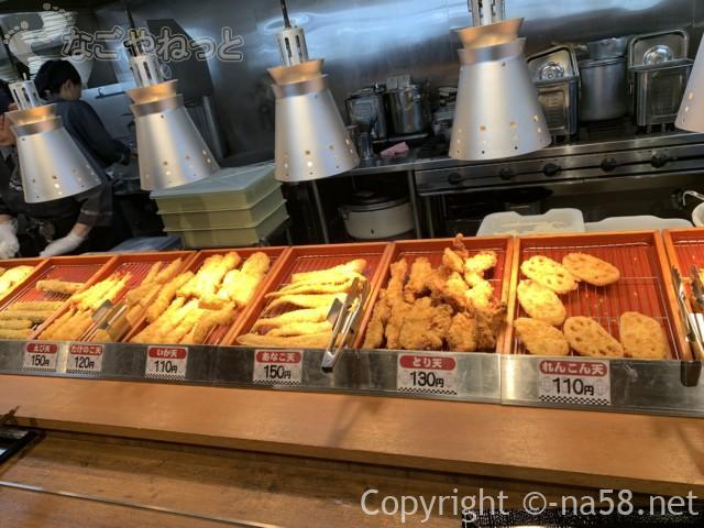 十割そばじゅうべえ七宝店、サイドメニューの天ぷら類