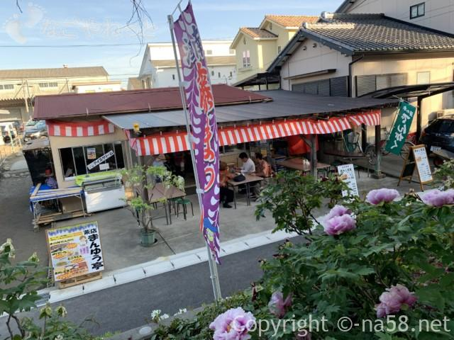 江南藤まつり(愛知県江南市)本堂前の茶店