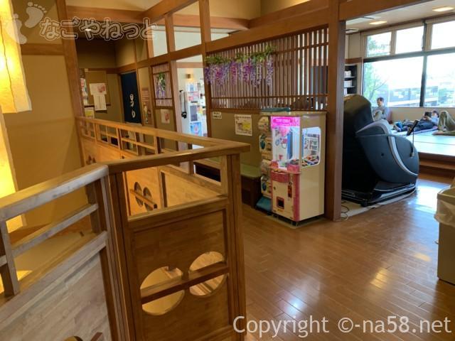 松竹温泉天風の湯(天然温泉・江南市)二階に畳の休憩所