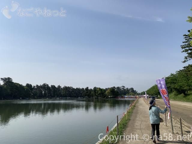 尾張津島藤まつり、天王川公園にて大きな池