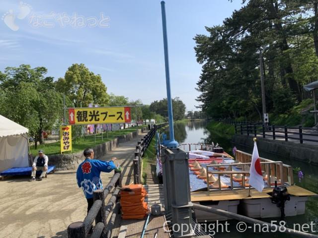 天王川公園の船、藤まつり期間