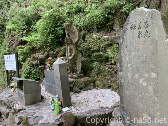養老の滝(岐阜県養老郡養老町)にある「田中大秀養老美泉弁碑」