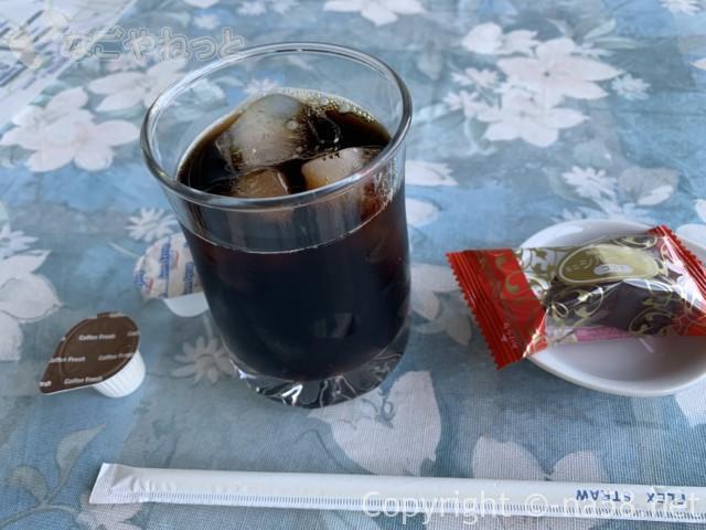 養老の滝(岐阜県養老郡養老町)滝に一番近い駐車場にある飲食店「滝見亭」でアイスコーヒー