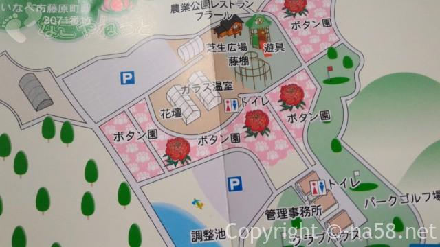 いなべぼたんまつり(三重県いなべ市)農業公園エコ福祉広場エリアマップ
