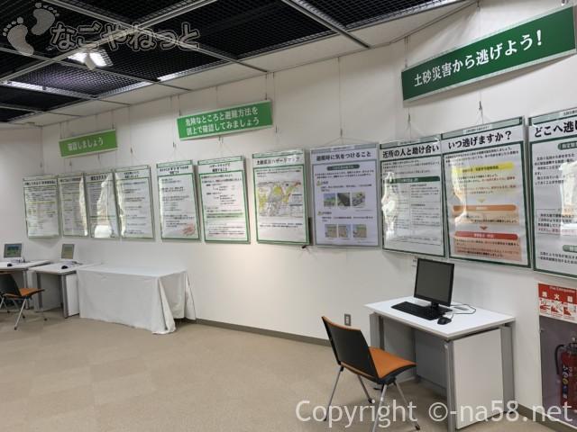 さぼう遊学館(岐阜県海津市)避難方法を知るためのパネル展示