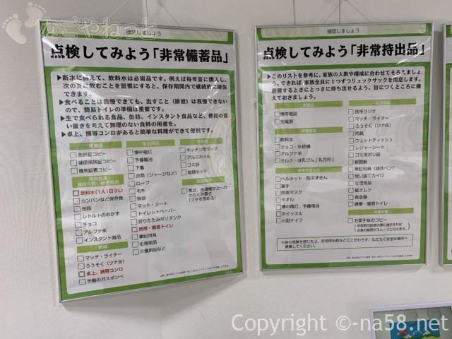 さぼう遊学館(岐阜県海津市)展示室の持ち出し品リスト