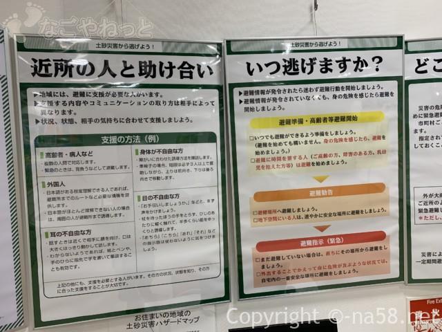 さぼう遊学館(岐阜県海津市)展示室、助け合うこといつ逃げるか