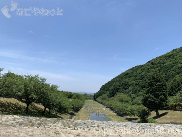 岐阜県海津市だんだん公園の水遊び場所