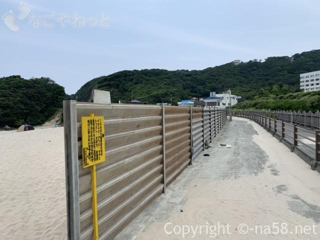 伊豆半島の白浜海岸、白浜海水浴場と国道