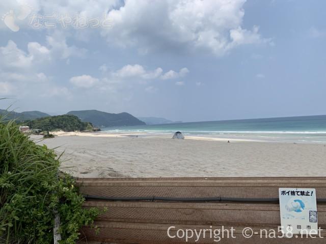 伊豆半島の白浜海岸、白浜海水浴場