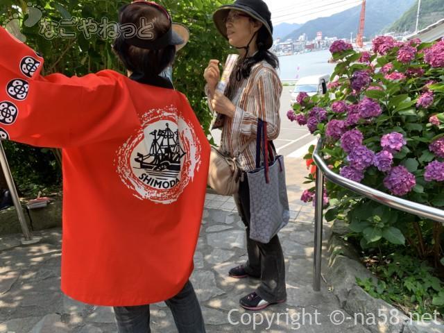 下田公園(静岡県下田市)のあじさい祭のスタッフの方と