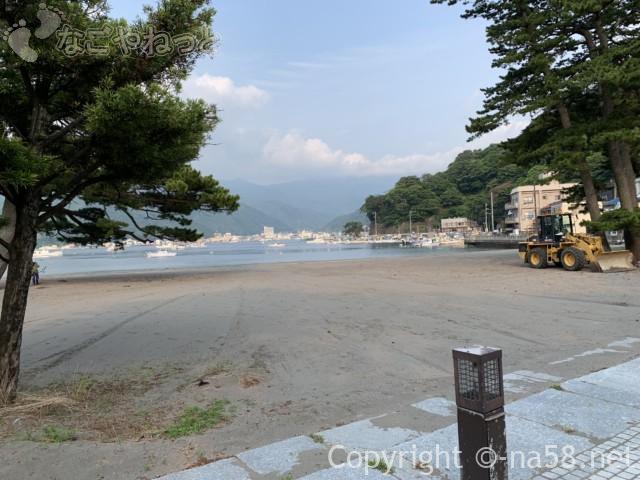 御浜岬海水浴場(静岡県沼津市)から向こう岸を見る