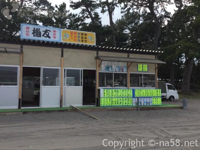 御浜岬海水浴場(静岡県沼津市)海の家準備中