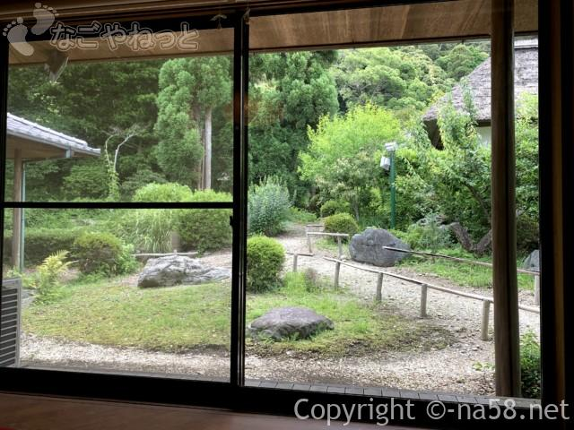 静岡県牧之原市「大鐘家」の食事処そば処門膳からの景色