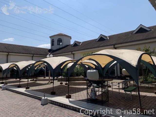 戸田川緑地(名古屋市港区)の陽だまり館にあるバーベキュー施設