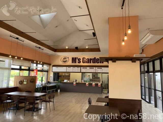 戸田川緑地(名古屋市港区)の陽だまり館にある飲食コーナー