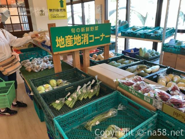 戸田川緑地公園(名古屋市港区)の陽だまり館の地元野菜