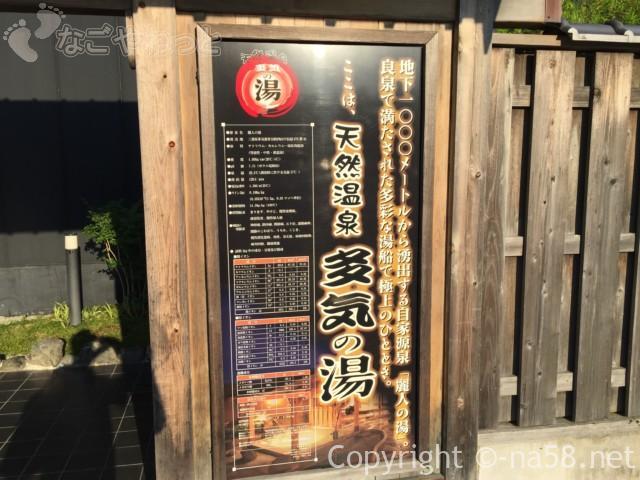 天然温泉・多気の湯(三重県多気町)の泉質
