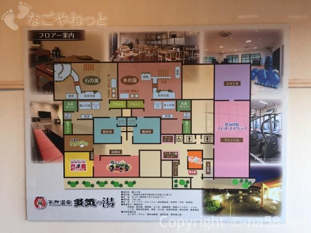 天然温泉・多気の湯(三重県多気町)の施設配置図