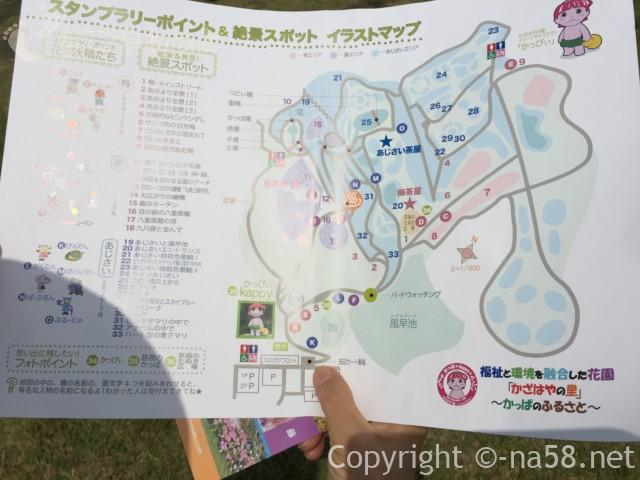 かざはやの里(三重県津市)の絶景ポイントのわかるマップ