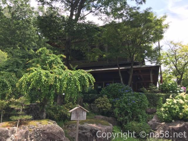 「木の館豊寿庵」(三重県伊賀市)のあじさい、建物付近に