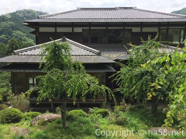 「木の館豊寿庵」(三重県伊賀市)の本館木の資料館と梅の木