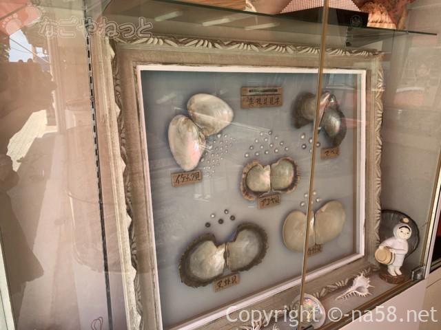 大王崎灯台(三重県志摩市)へ、真珠を売る商店