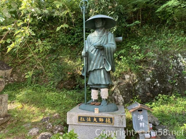 丹生神宮寺にある弘法大師様の像(三重県多気町)
