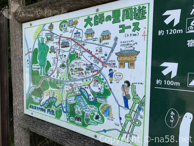 大師の里周遊コース案内図(三重県多気町)