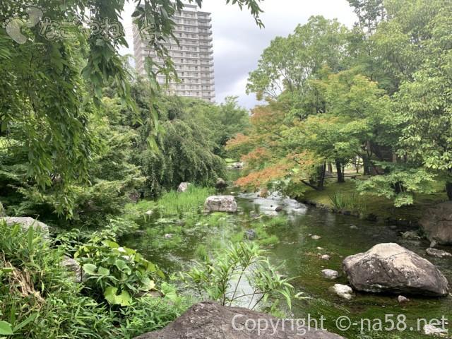 「白鳥庭園」(名古屋市熱田区)園内の木曽川付近