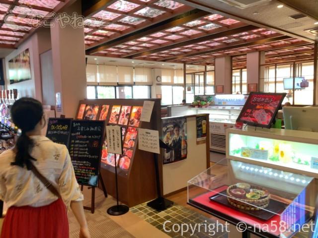 名東温泉花しょうぶ(愛知県長久手市)の食事処、和風スタイルダイニング花しょうぶ