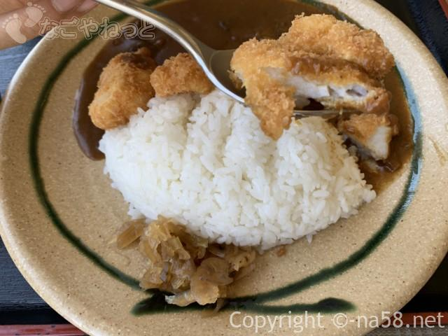 Mamaz  Cafe ままずカフェ(岐阜県海津市)で「なまずカレー」を食べているところ